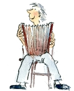 Accordion player and link to the April event