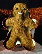 Gingerbread man and link to the April Puppet Show